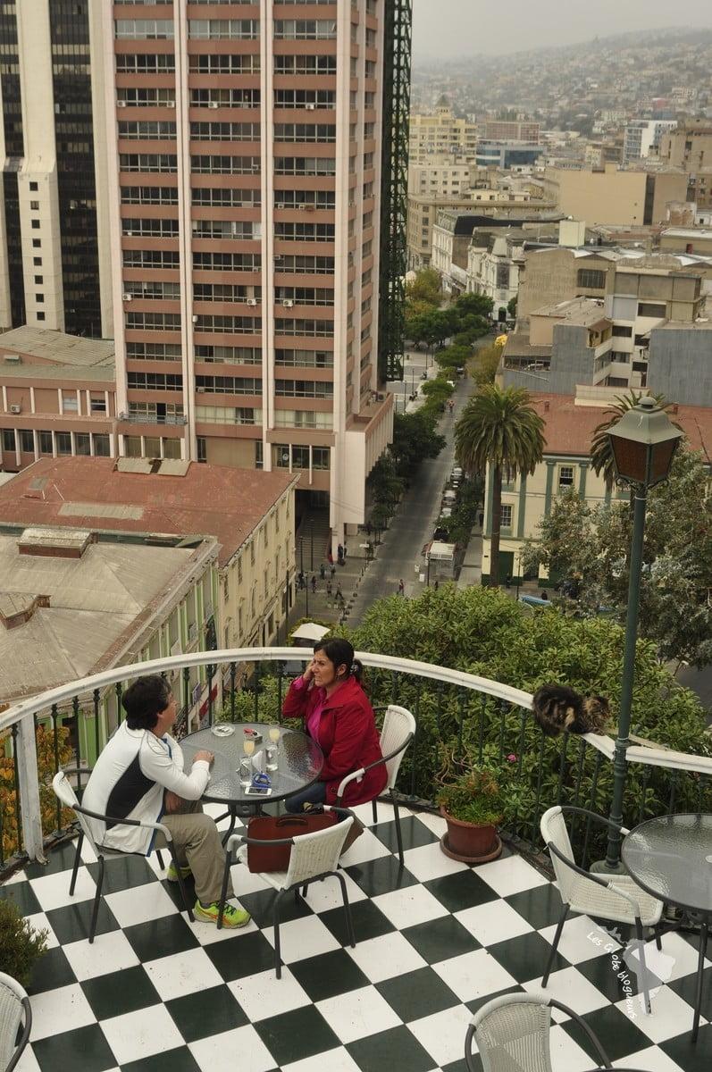 Valparaiso café damier