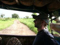 A l'arrière du bus au Sénégal