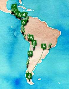 itinéraire tour amérique latine