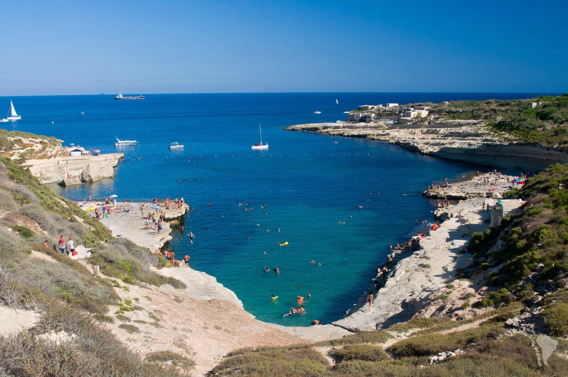 crique baie piscine naturelle malte