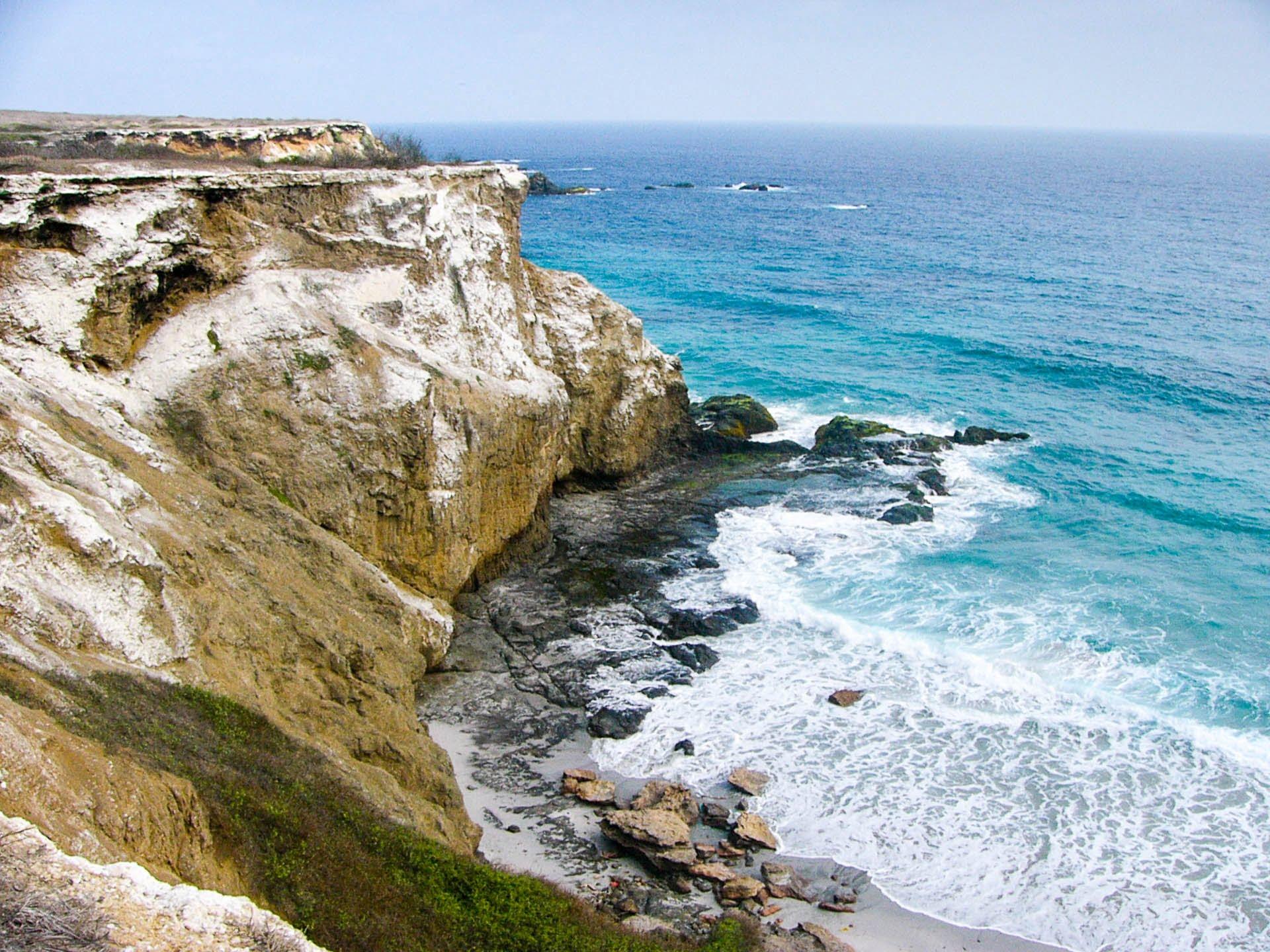 Les falaises de l'isla de la plata