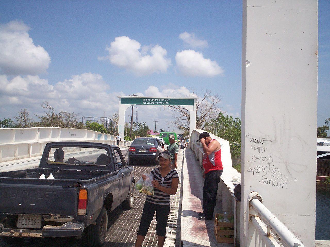 Pont frontière bélize mexique