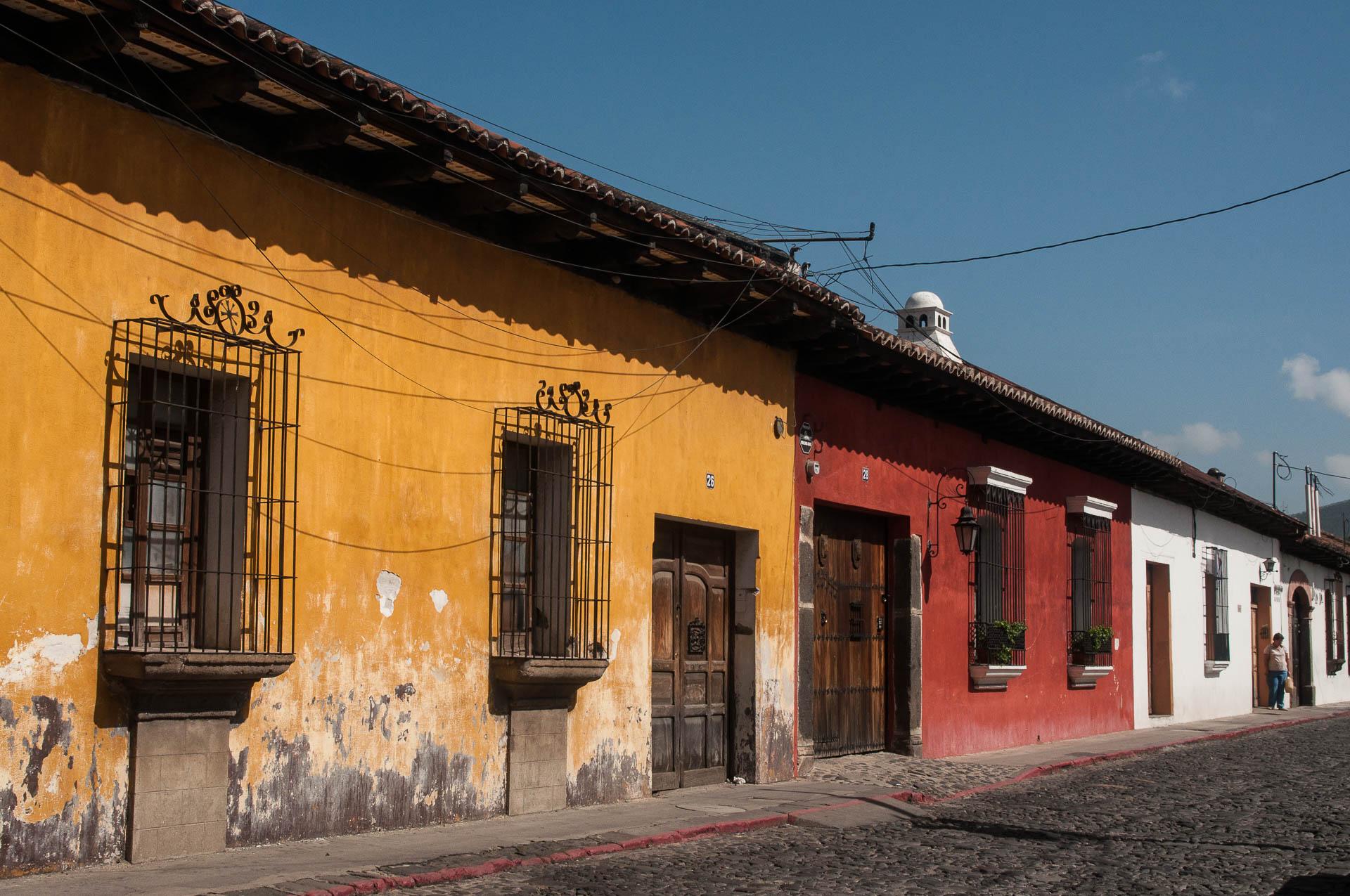 Antigua façade colorée