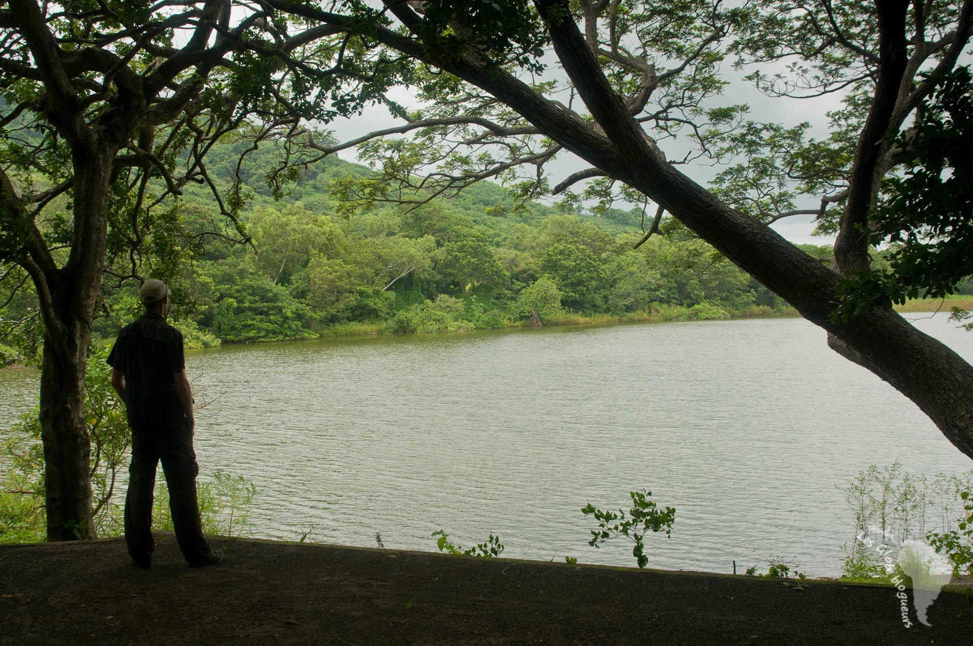 Seb à la lagune de Chaco verde