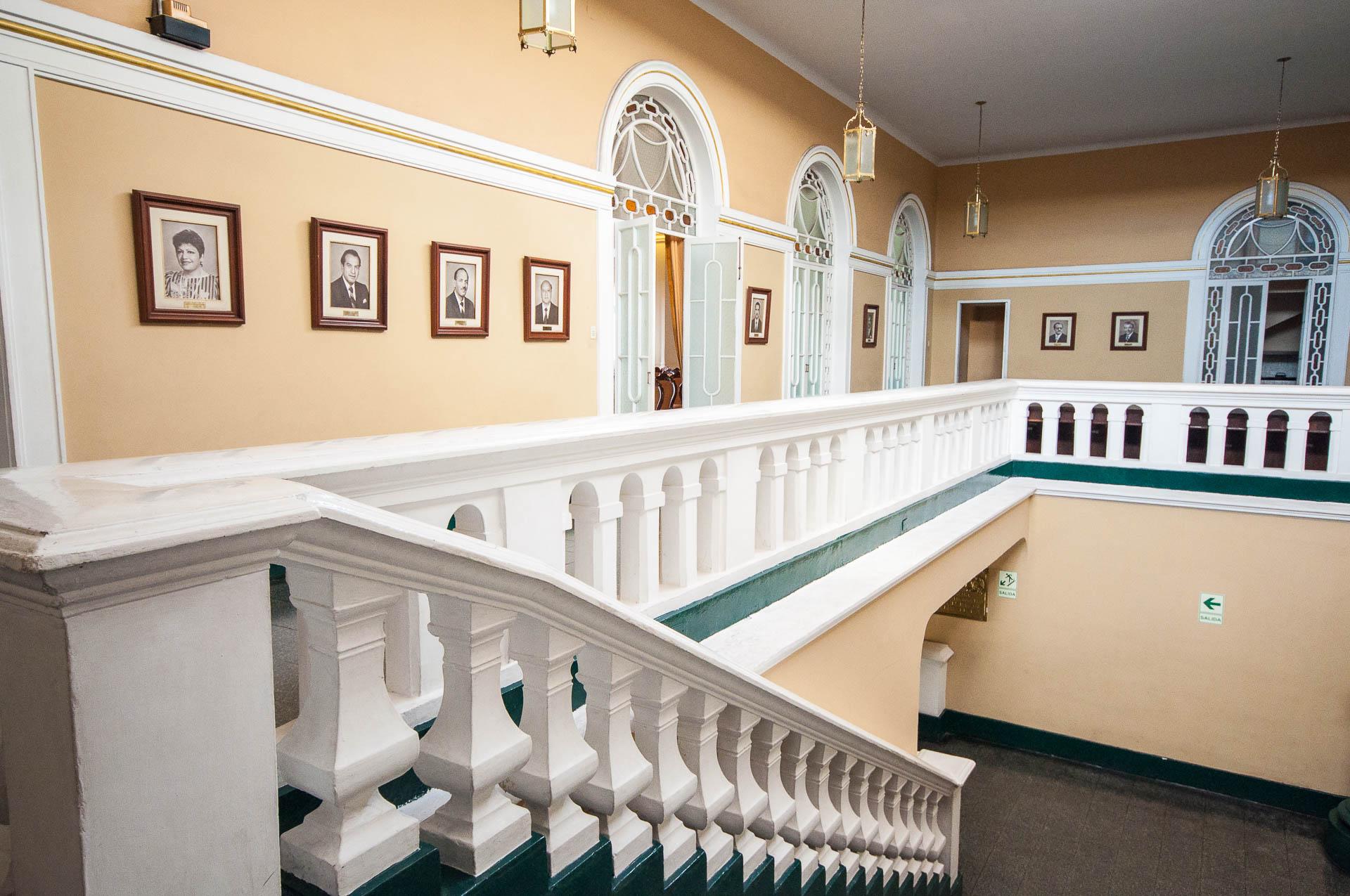 A l'intérieur de la mairie de Trujillo