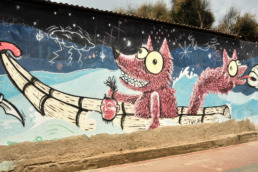 Graffiti loup