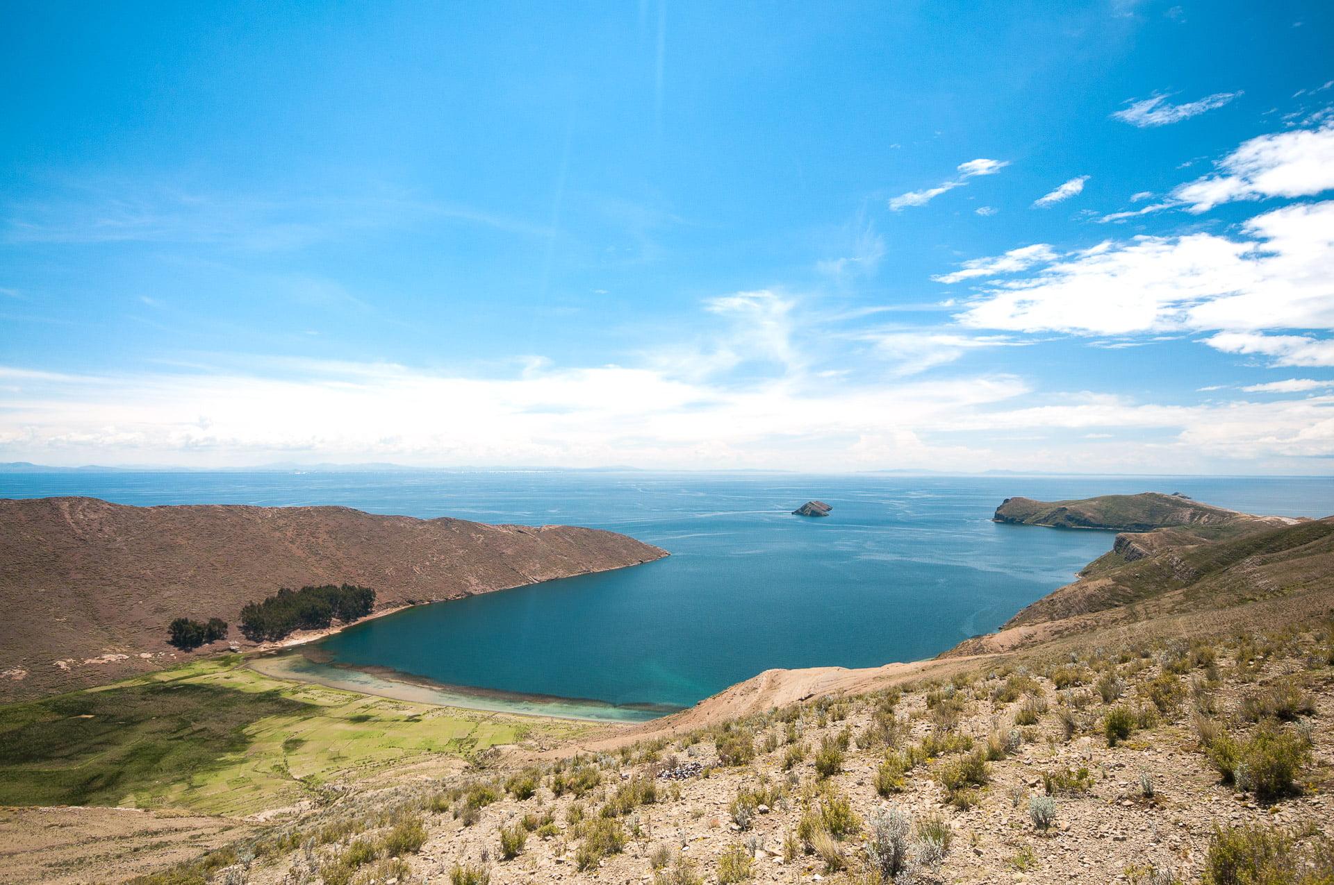 isla del sol crique carrée - Les globe blogueurs - blog voyage nature