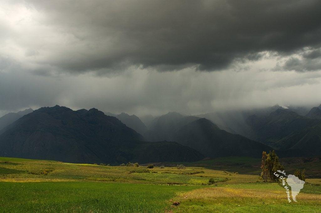 Sur le chemin pour le site de Moray, le temps est très contrasté !