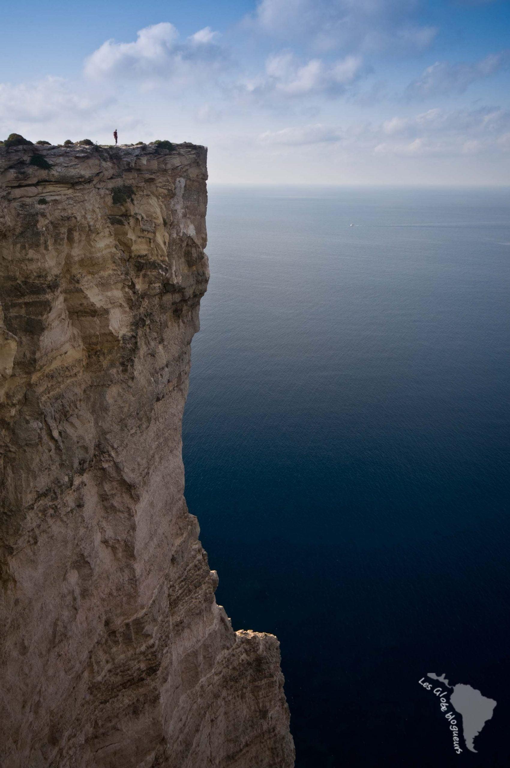 falaises Ta Cenc gozo mer