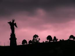 Coucher de soleil sur Quito en Equateur