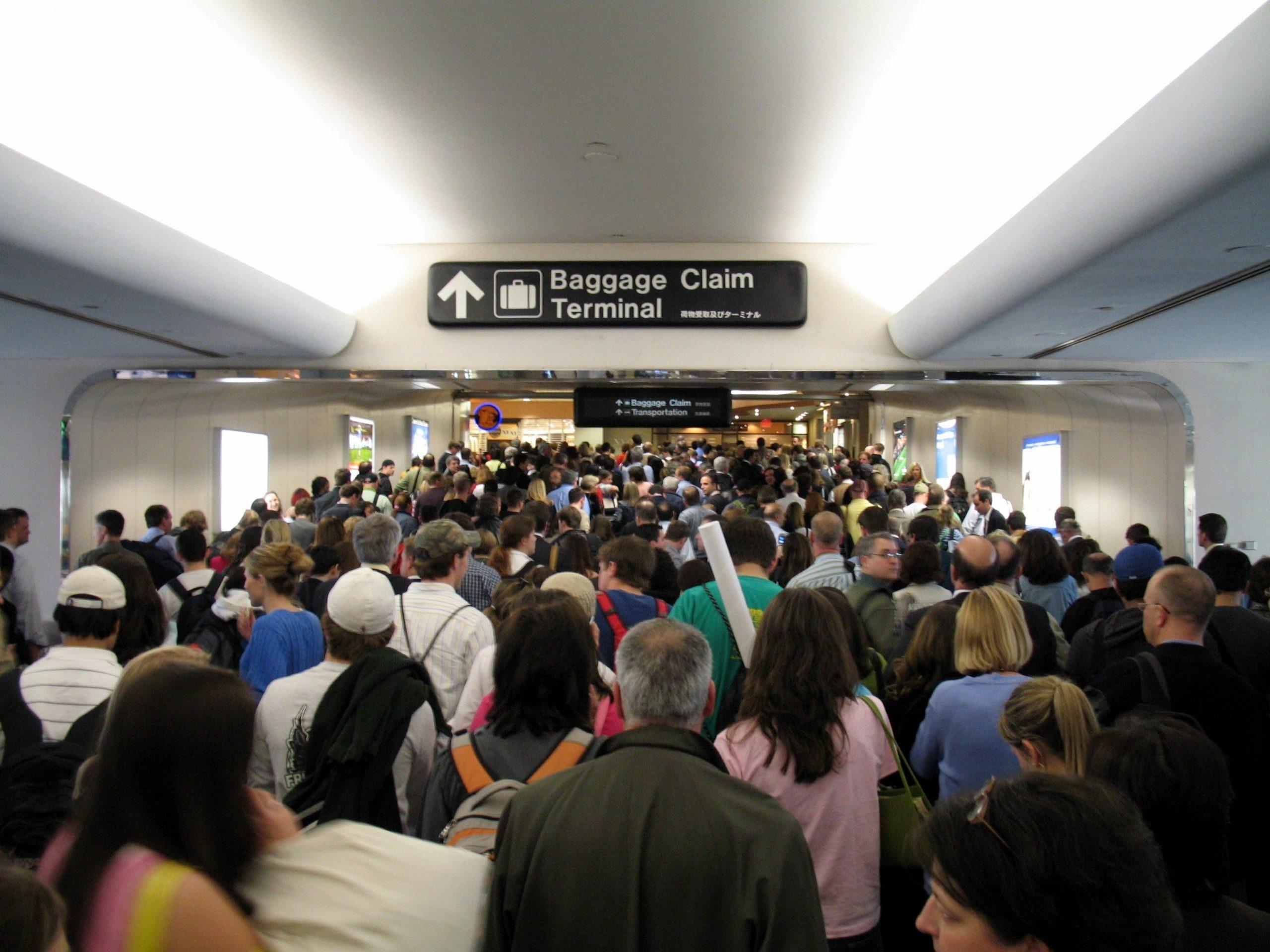 foule aéroport