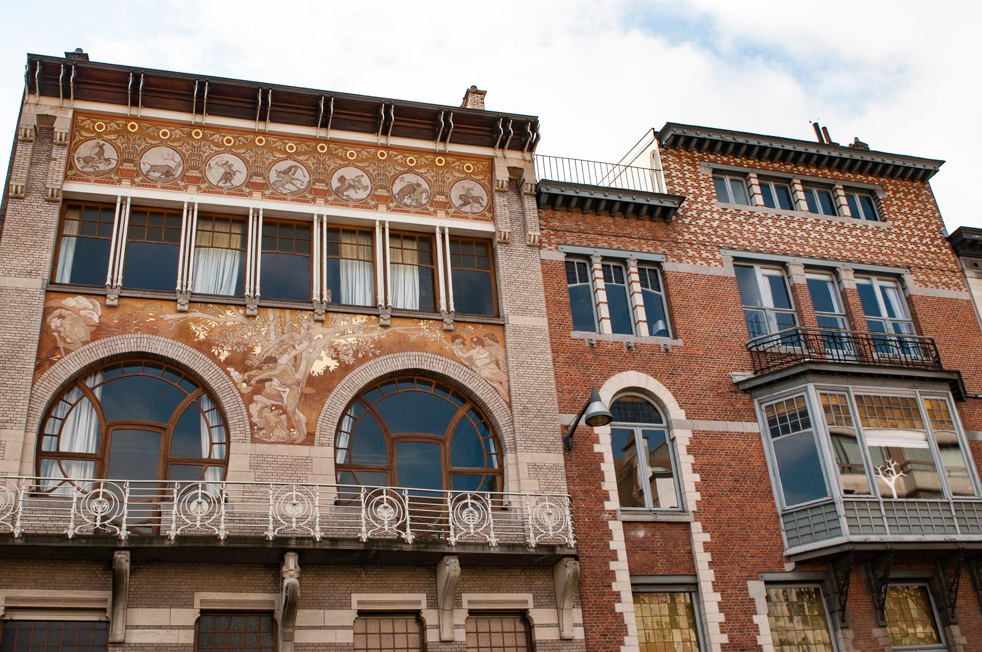 Hôtel Ciamberlani et ses sgraffites si bien conservées à bruxelles