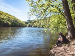 Lac Nisramont laura hélio uai - Les globe blogueurs - blog voyage nature