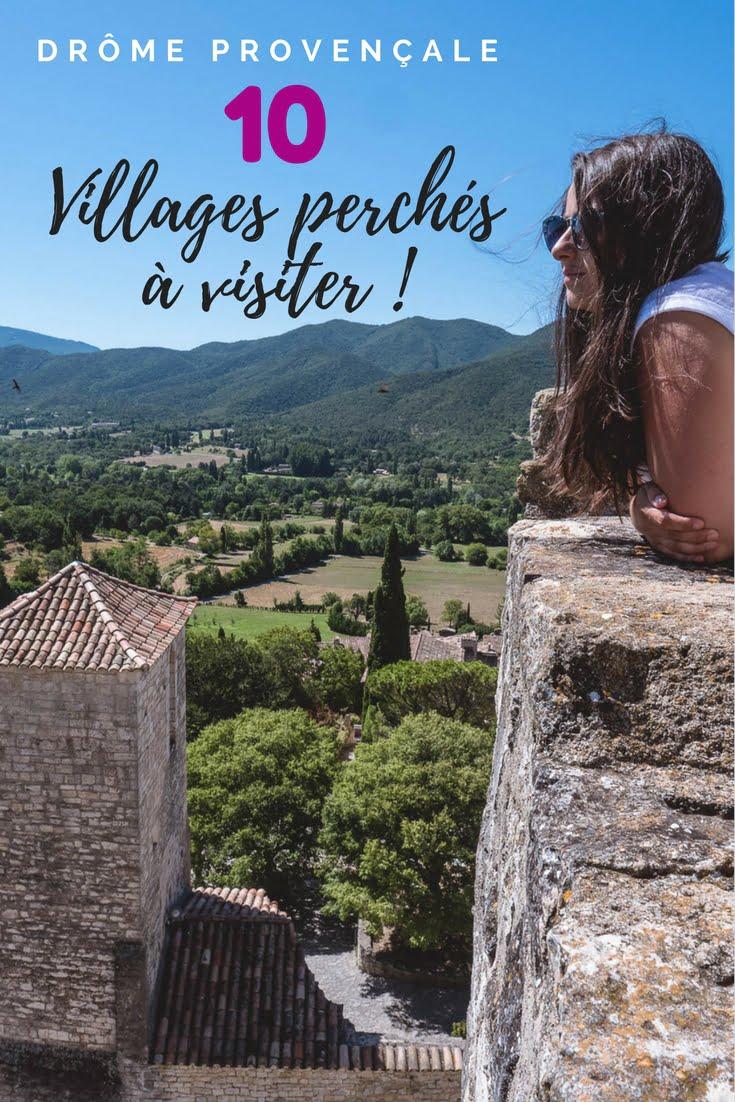 les villages perchés de la drôme provençale en France