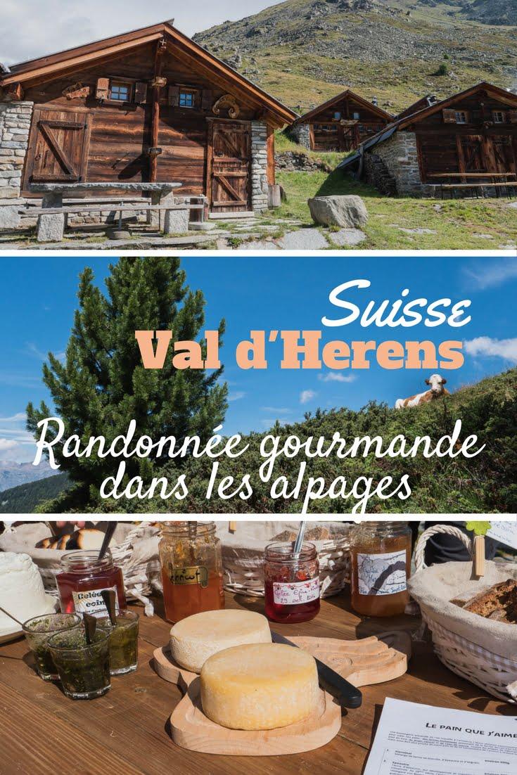 Randonnée gourmande dans les alpages dans le val d'herens en Suisse. Découverte des produits locaux, fromages, charcuteries etc..