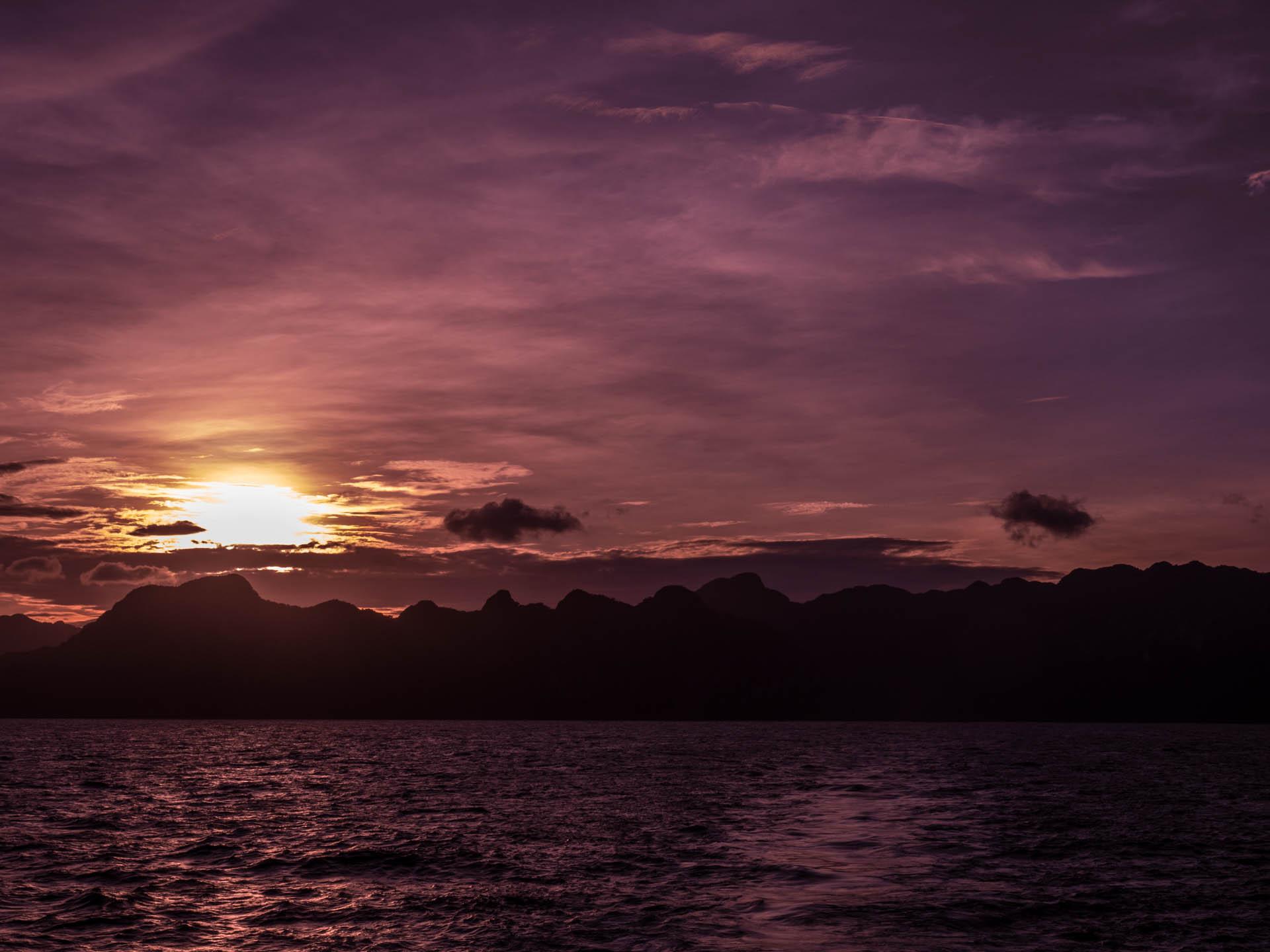 Coron coucher de soleil - Les globe blogueurs - blog voyage nature
