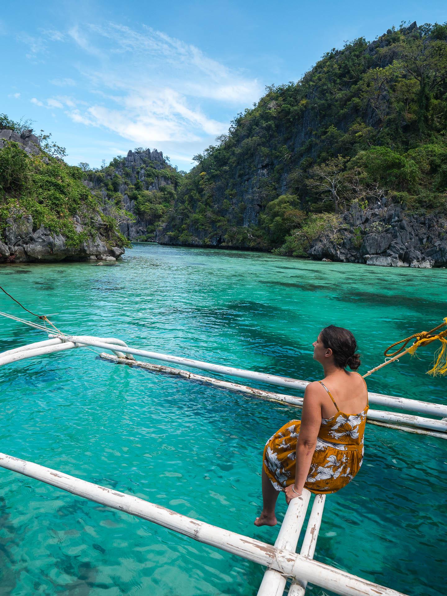 Coron lagon vert - Les globe blogueurs - blog voyage nature