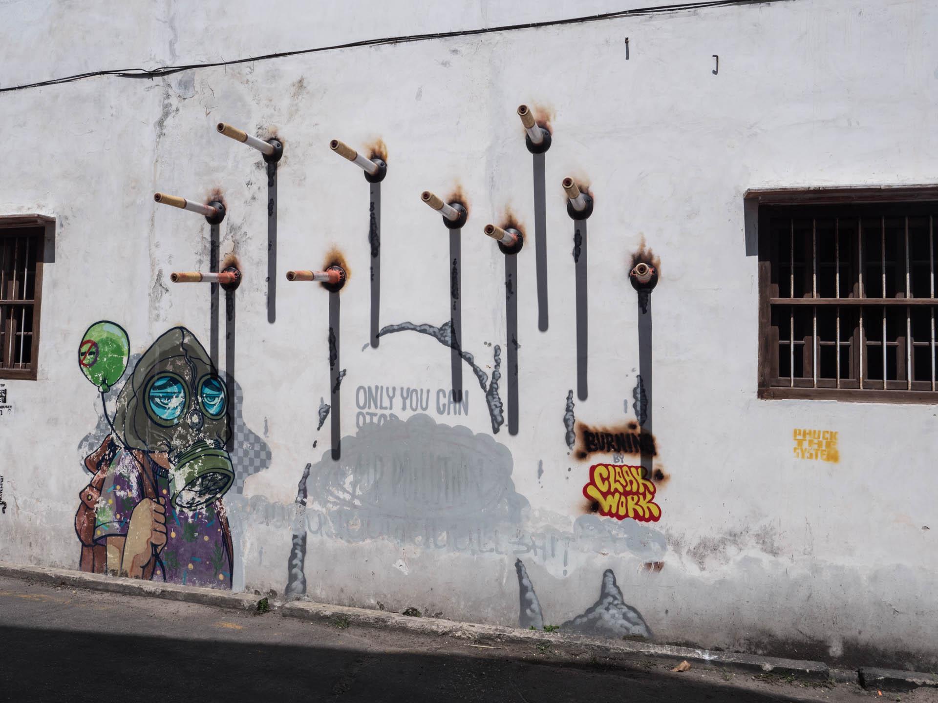 georgetown street art masque - Les globe blogueurs - blog voyage nature