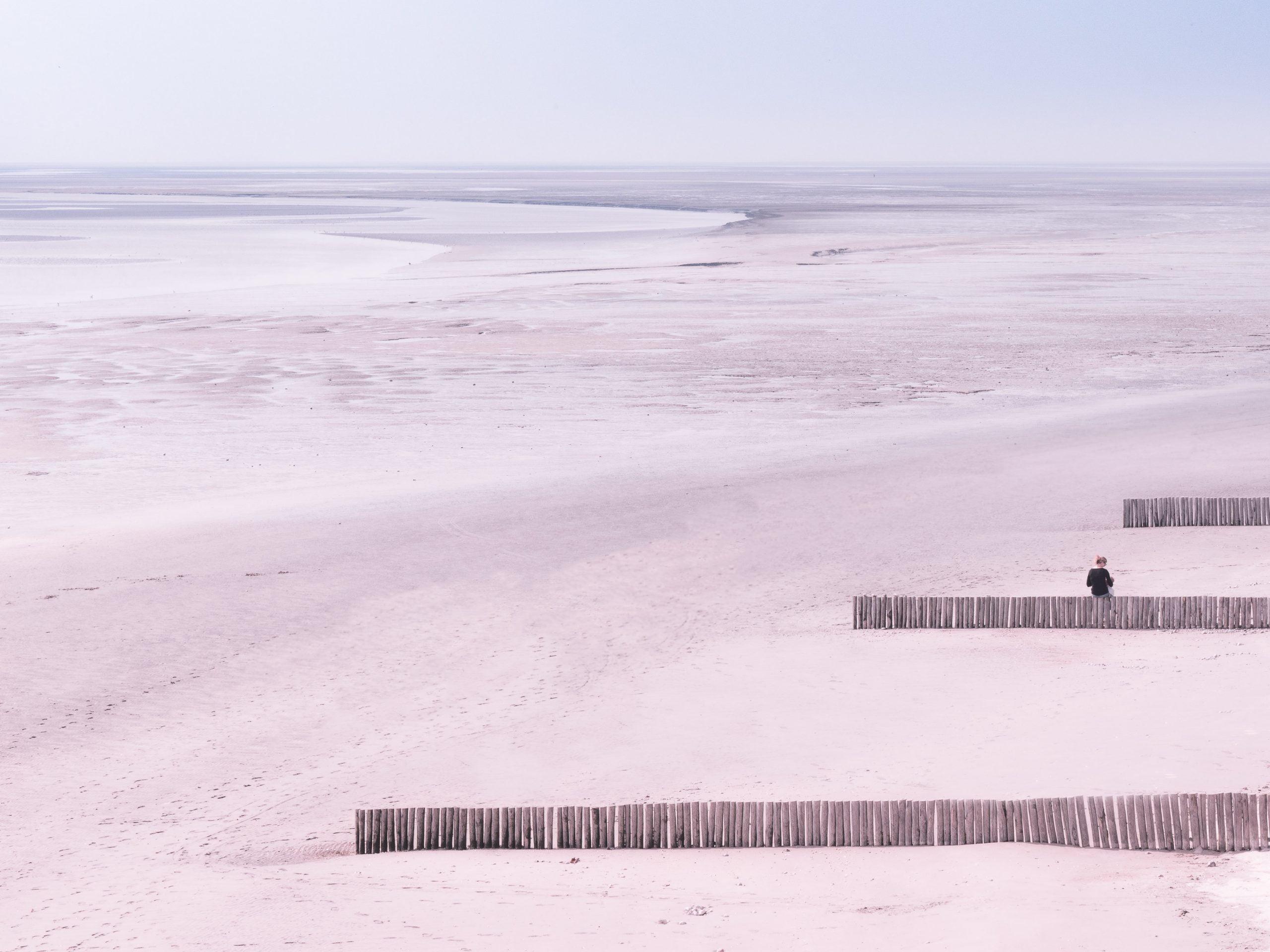 Les paysages de la baie de Somme en Picardie - depuis le Crotoy