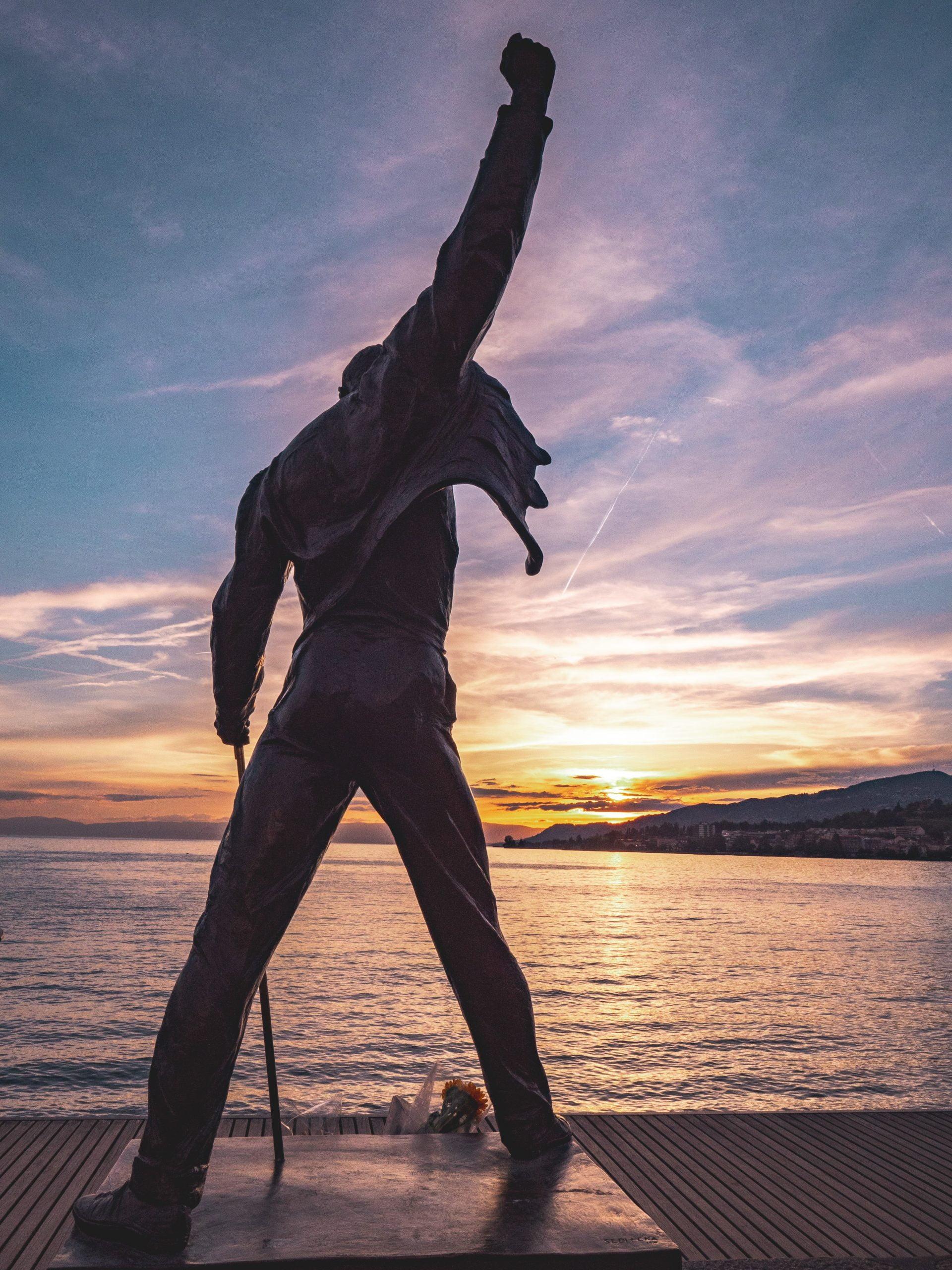 Statue de freddy Mercury à Montreux