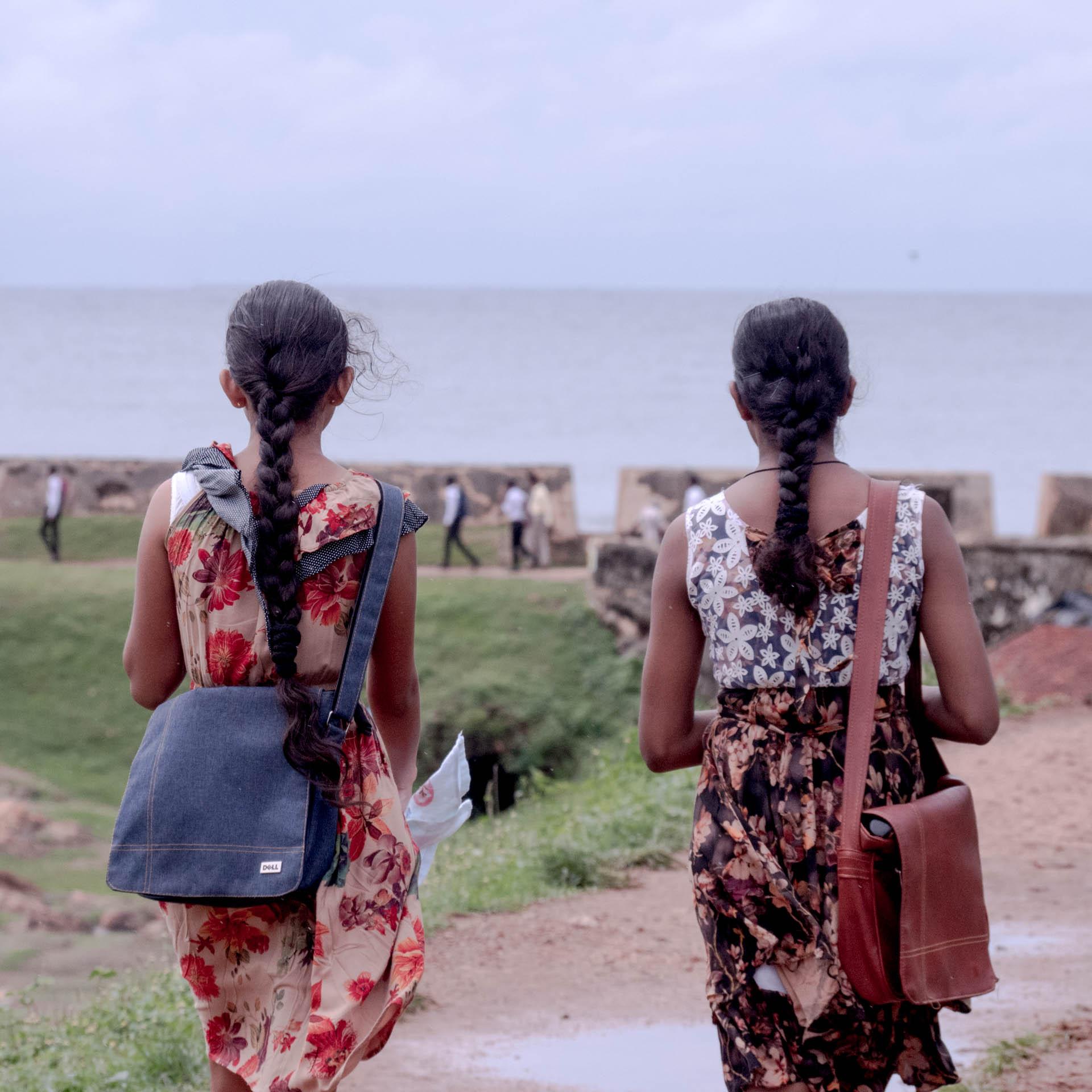 Étudiantes à Galle au Sri Lanka