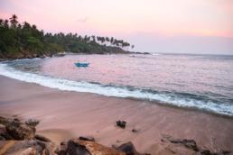 Tangalle baie des pêcheurs sur la côte sud du Sri Lanka