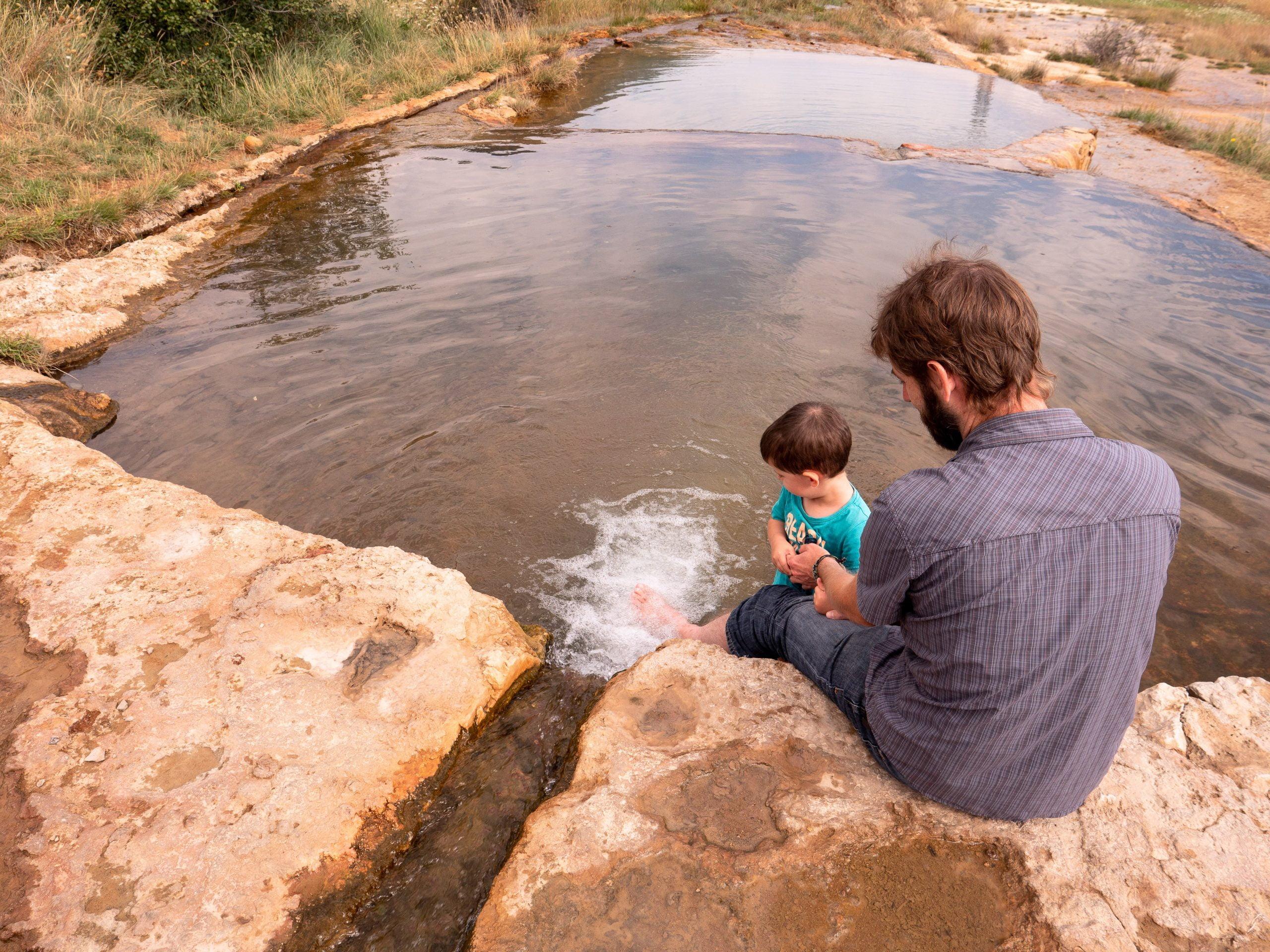 Le plan de Phazy, une source d'eau chaude pour se mettre dans le bain à Guillestre