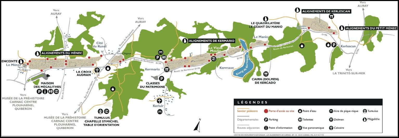 plan alignement carnac - Les globe blogueurs - blog voyage nature