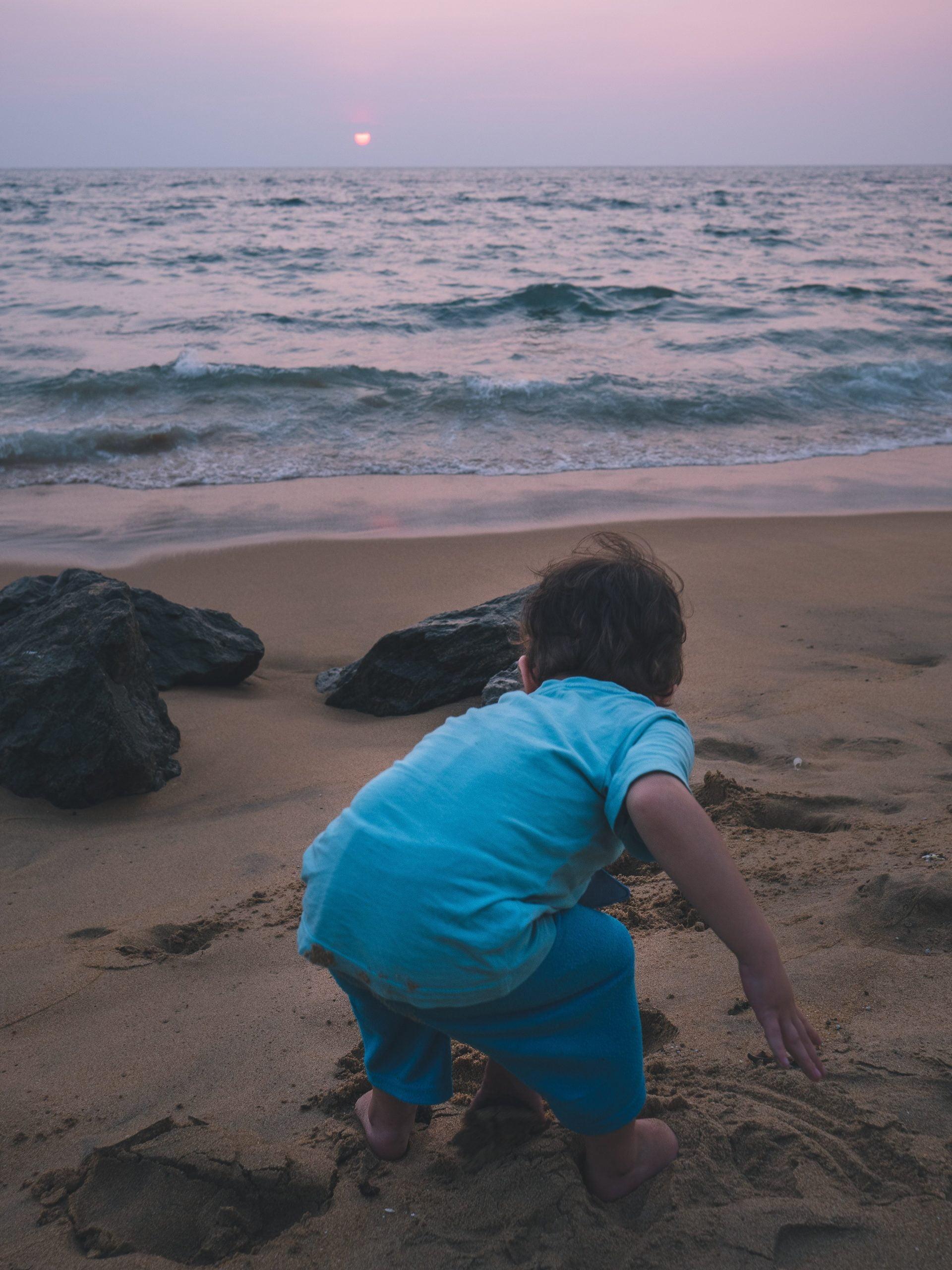 plage de colombo au Sri Lanka