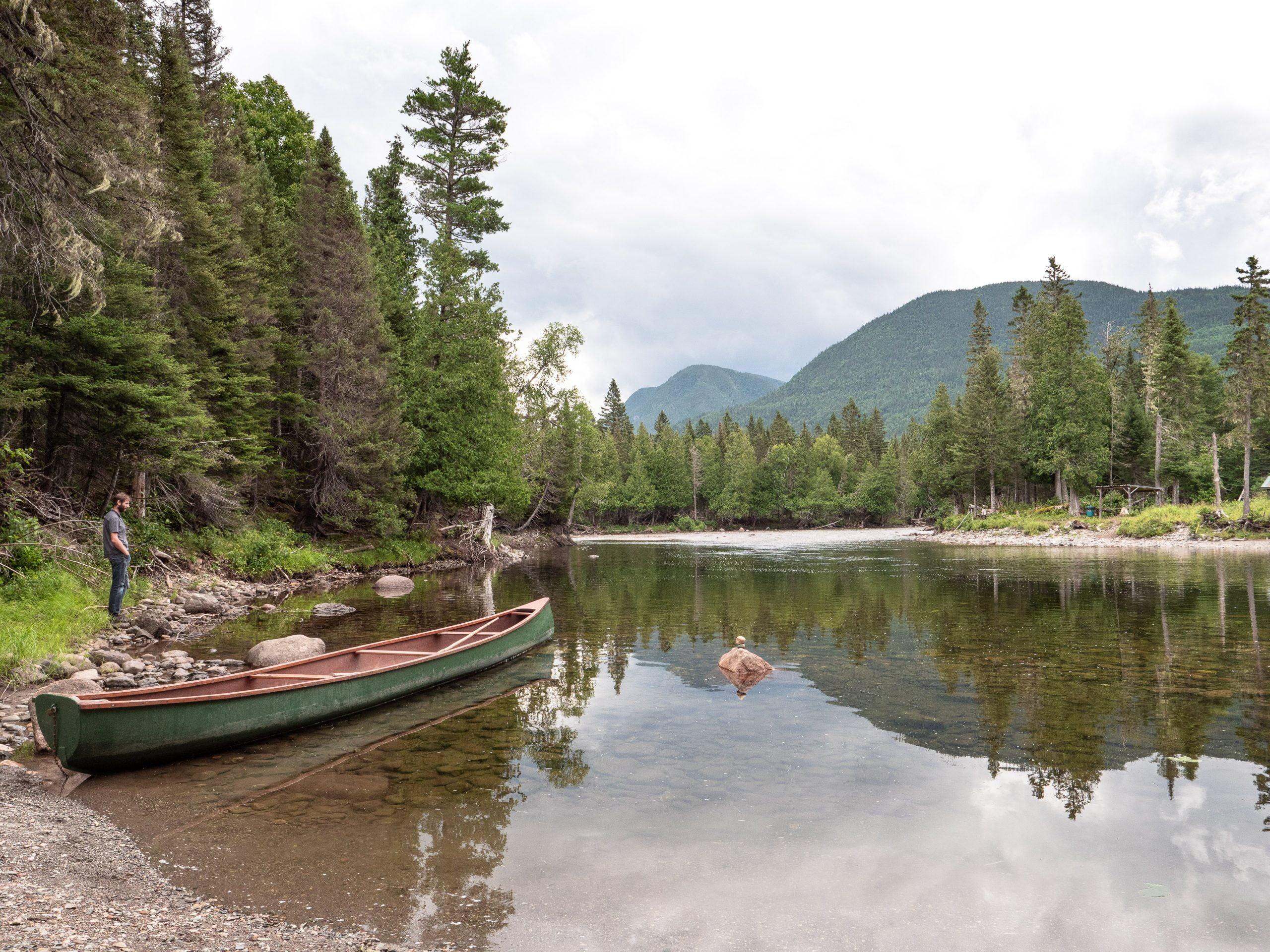 canoe parc national de gaspésie