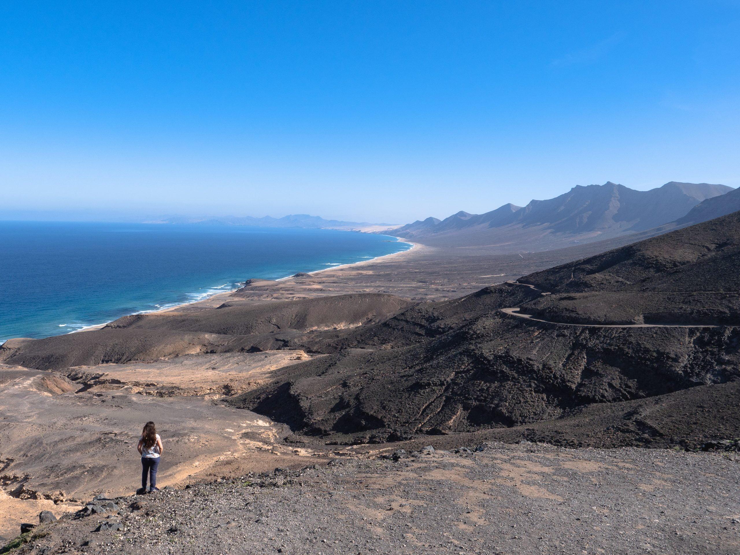 Vue sur la plage de cofete à Fuerteventura