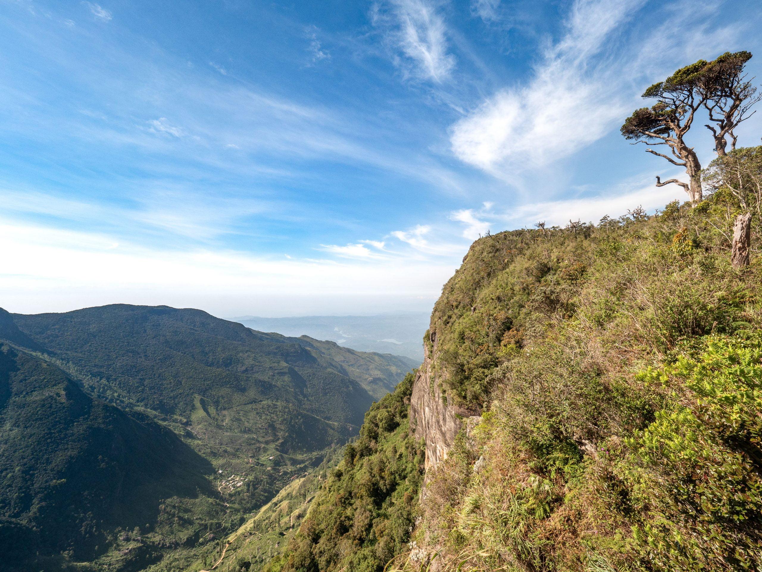 point de vue world's end au parc national d'Horton plains, Sri Lanka