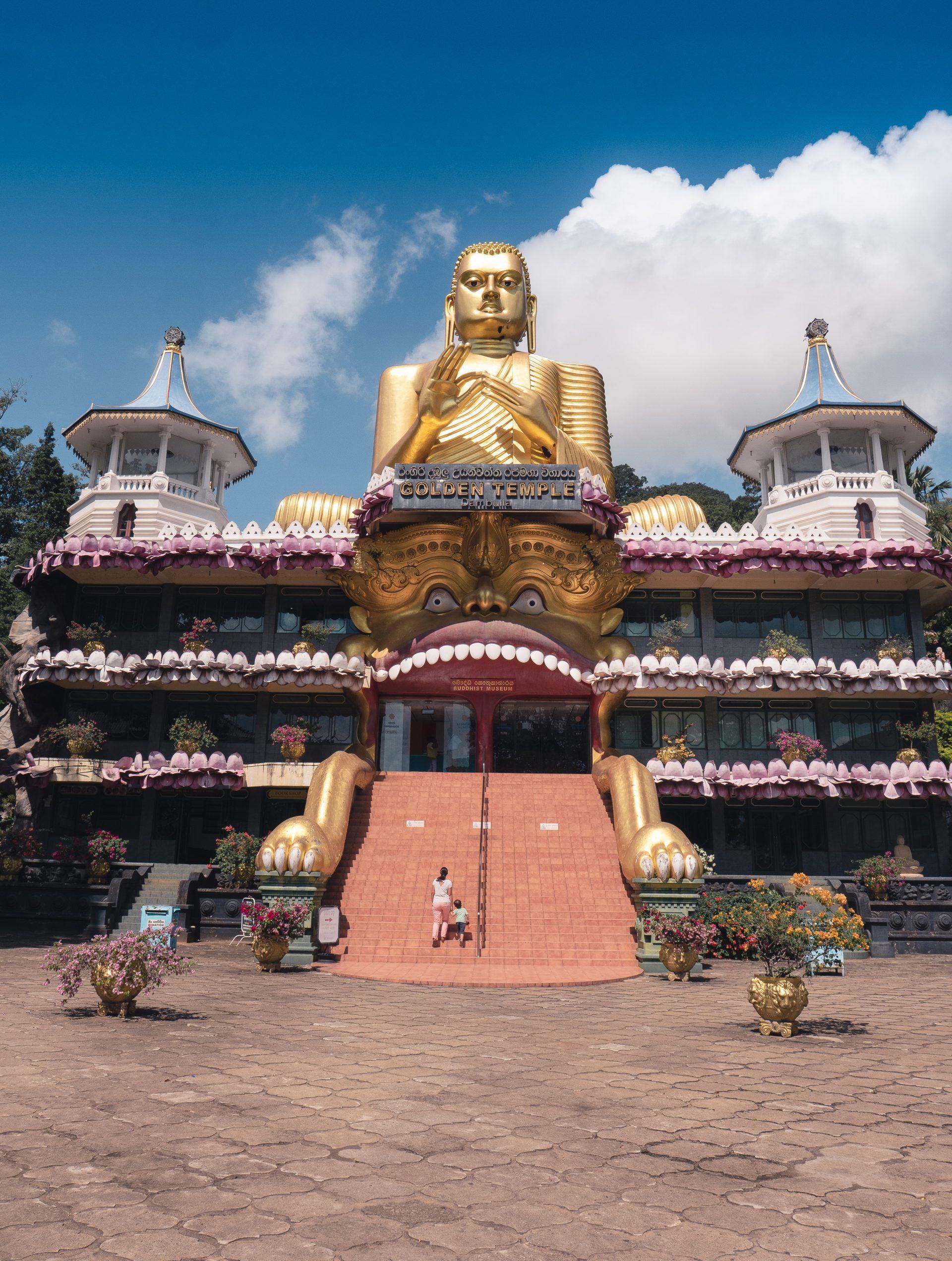 Temple d'or de dambulla au Sri Lanka - musée