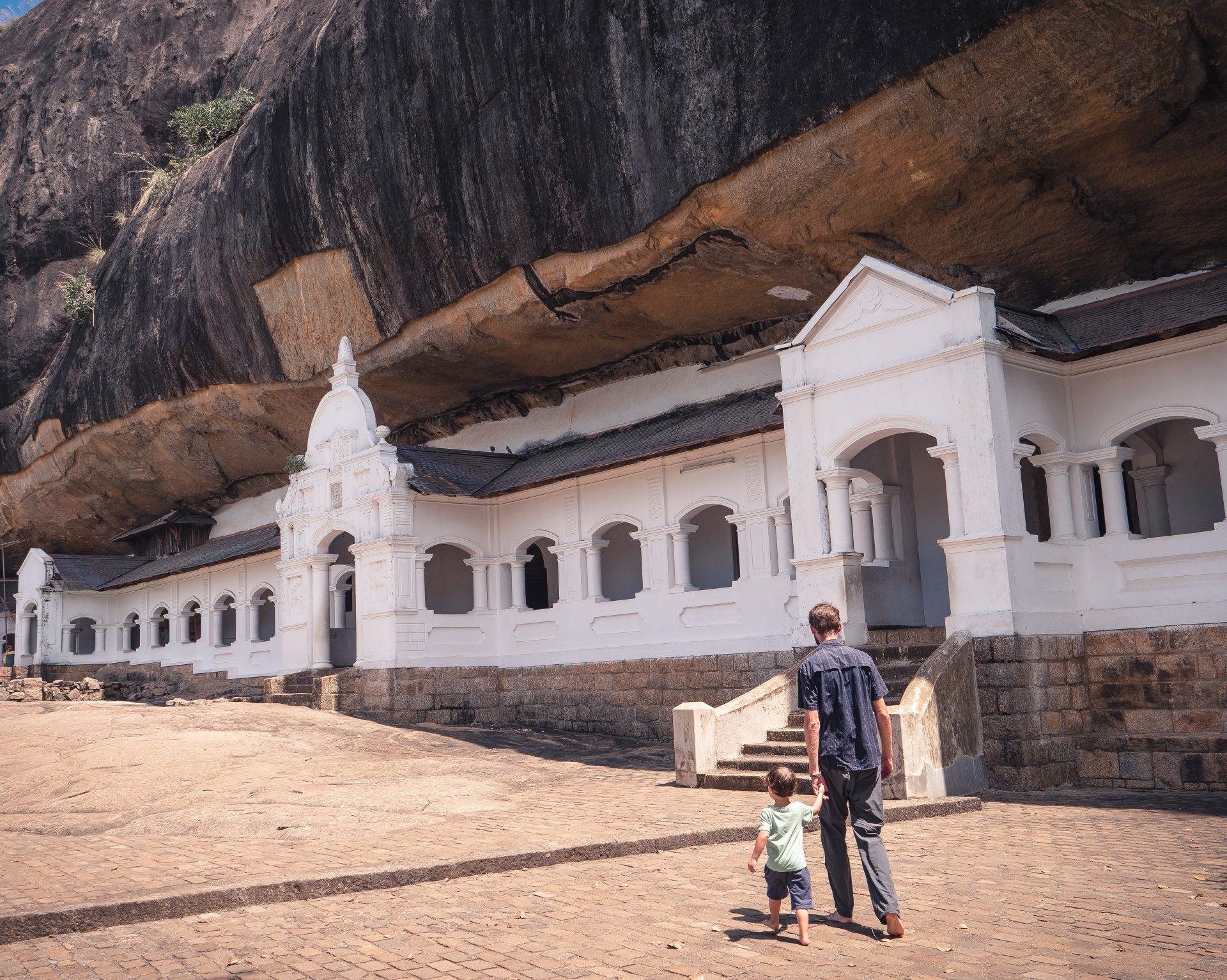 Temple d'or de dambulla au Sri Lanka - grotte sacrée