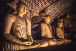 Temple d'or de dambulla au Sri Lanka - bouddhas