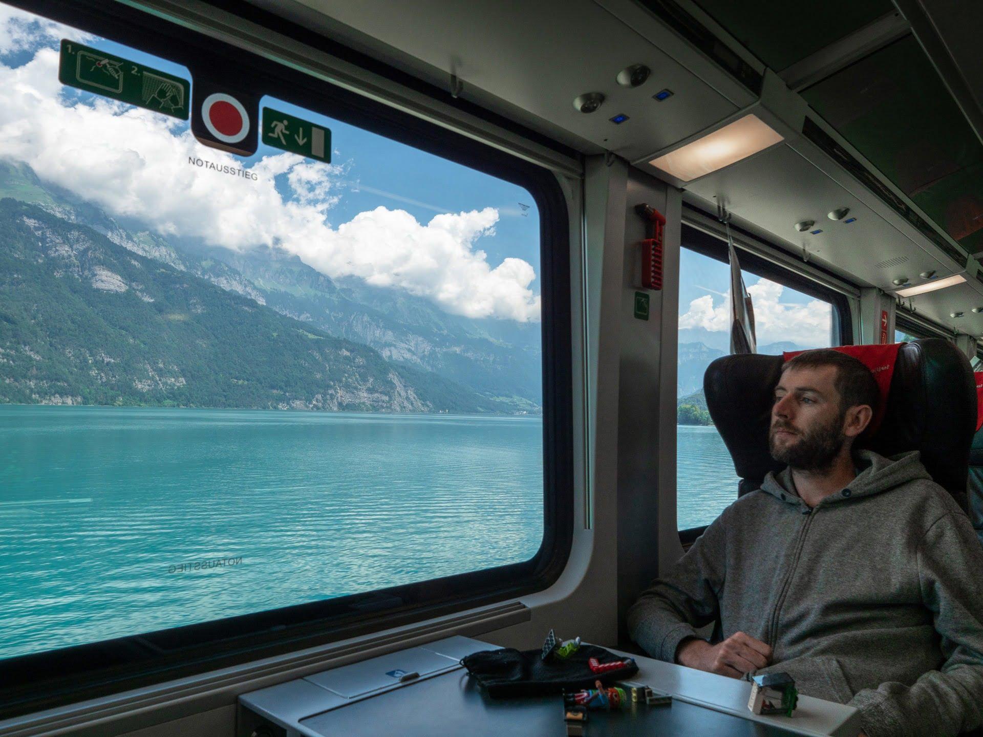 Voyager en train suisse et autriche