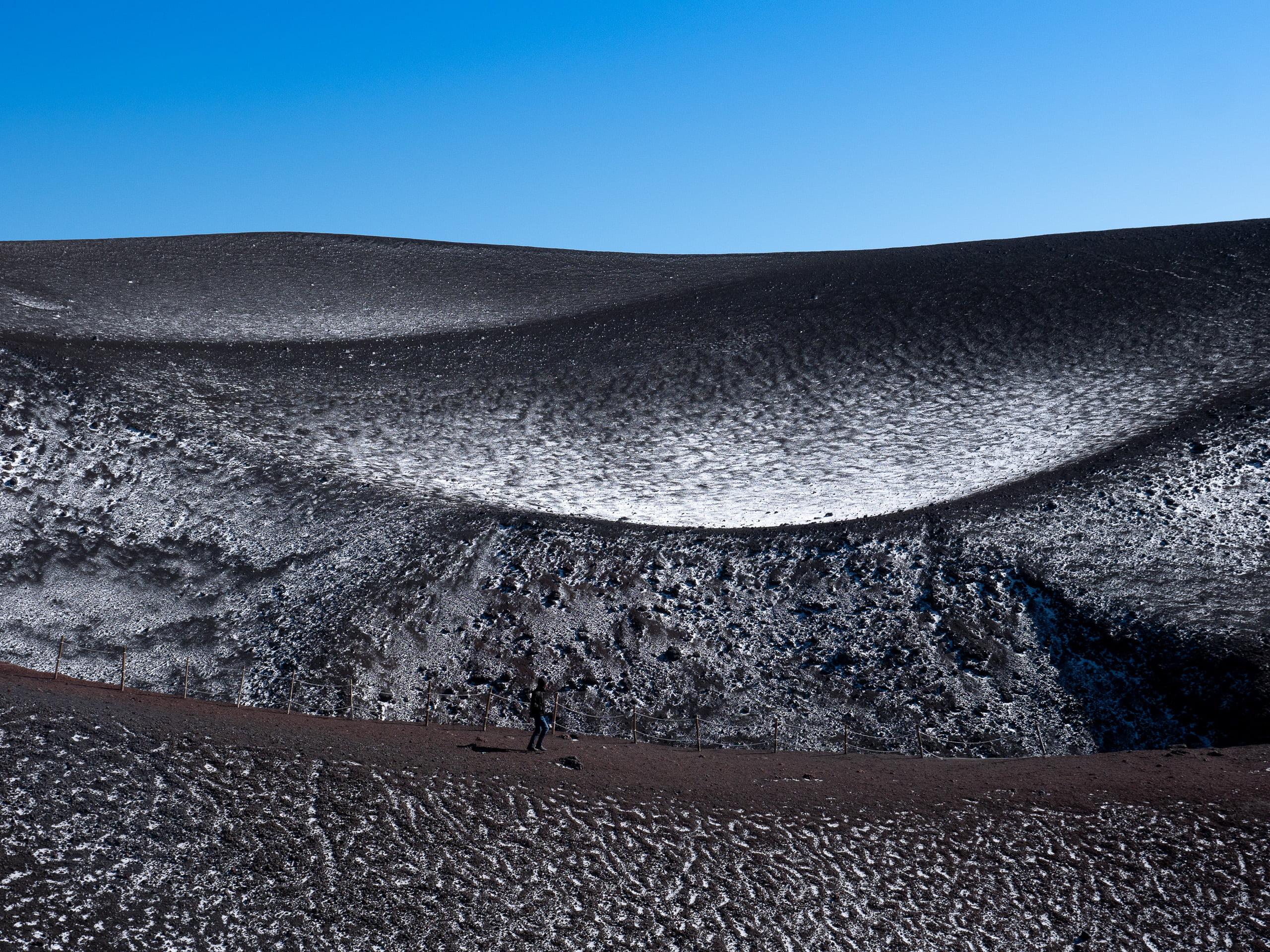 Sommet volcan etna sicile