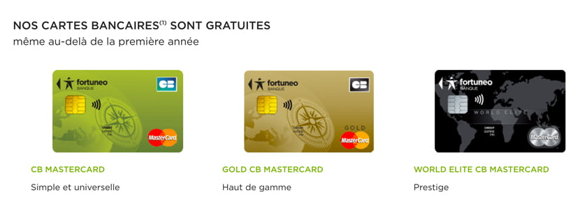 fortuneo carte bancaire gold mastercard world elite