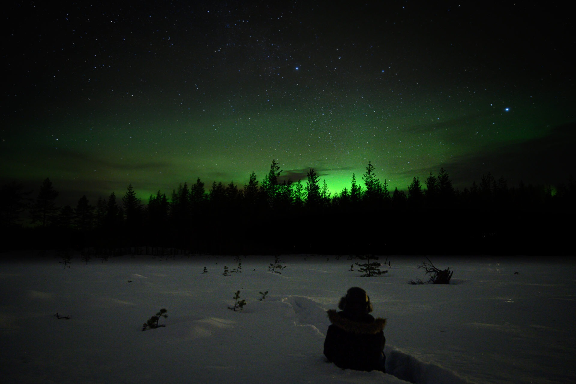 aurore boréale laponie suedoise