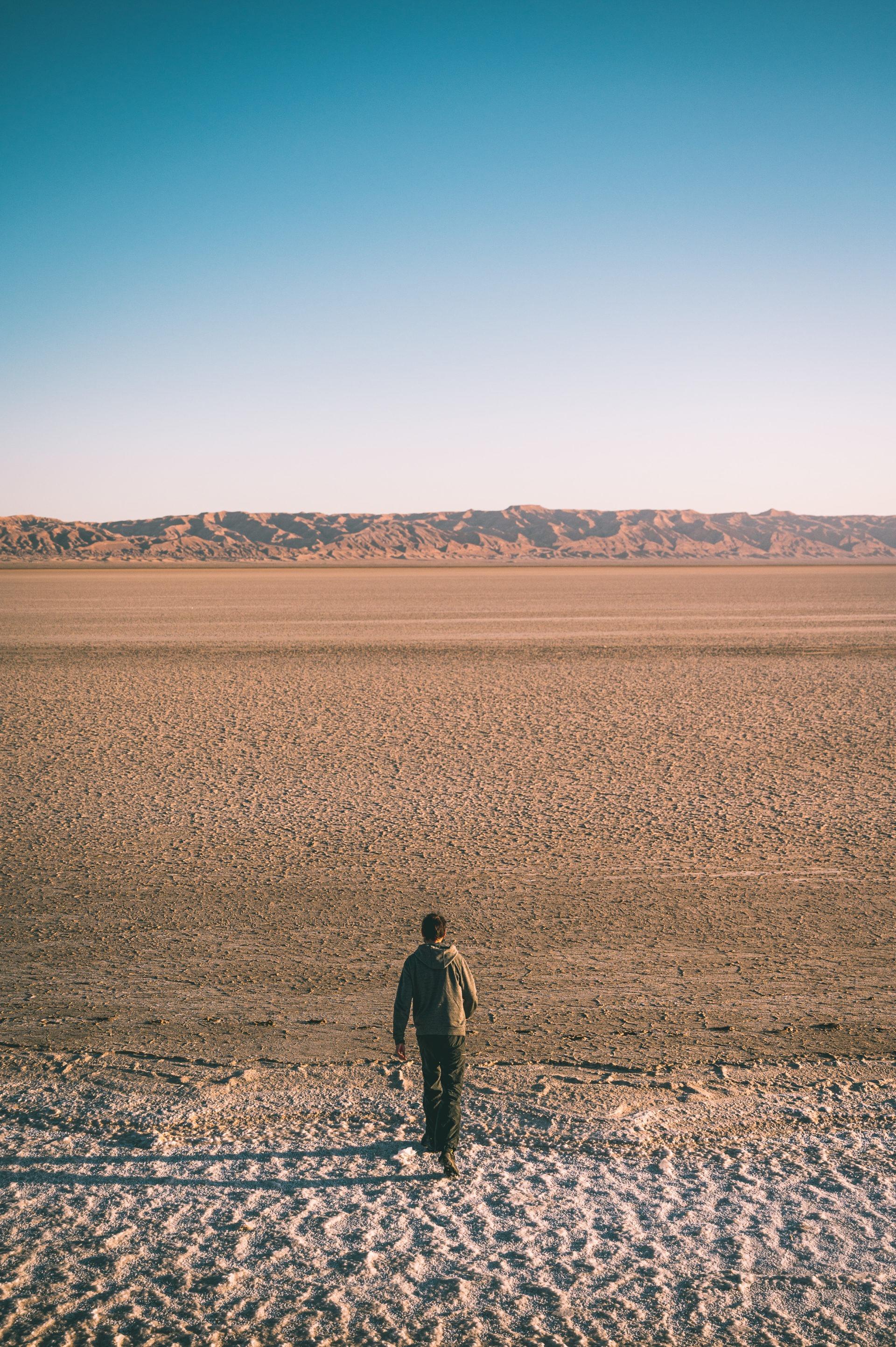Le chot el jerid - désert de sel en Tunisie