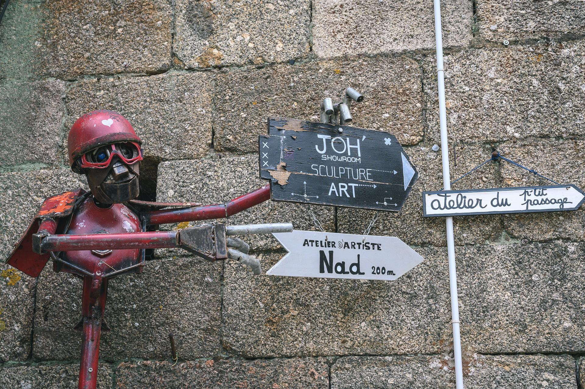 tourisme Belle-Isle-en-Terre, atelier d'artiste