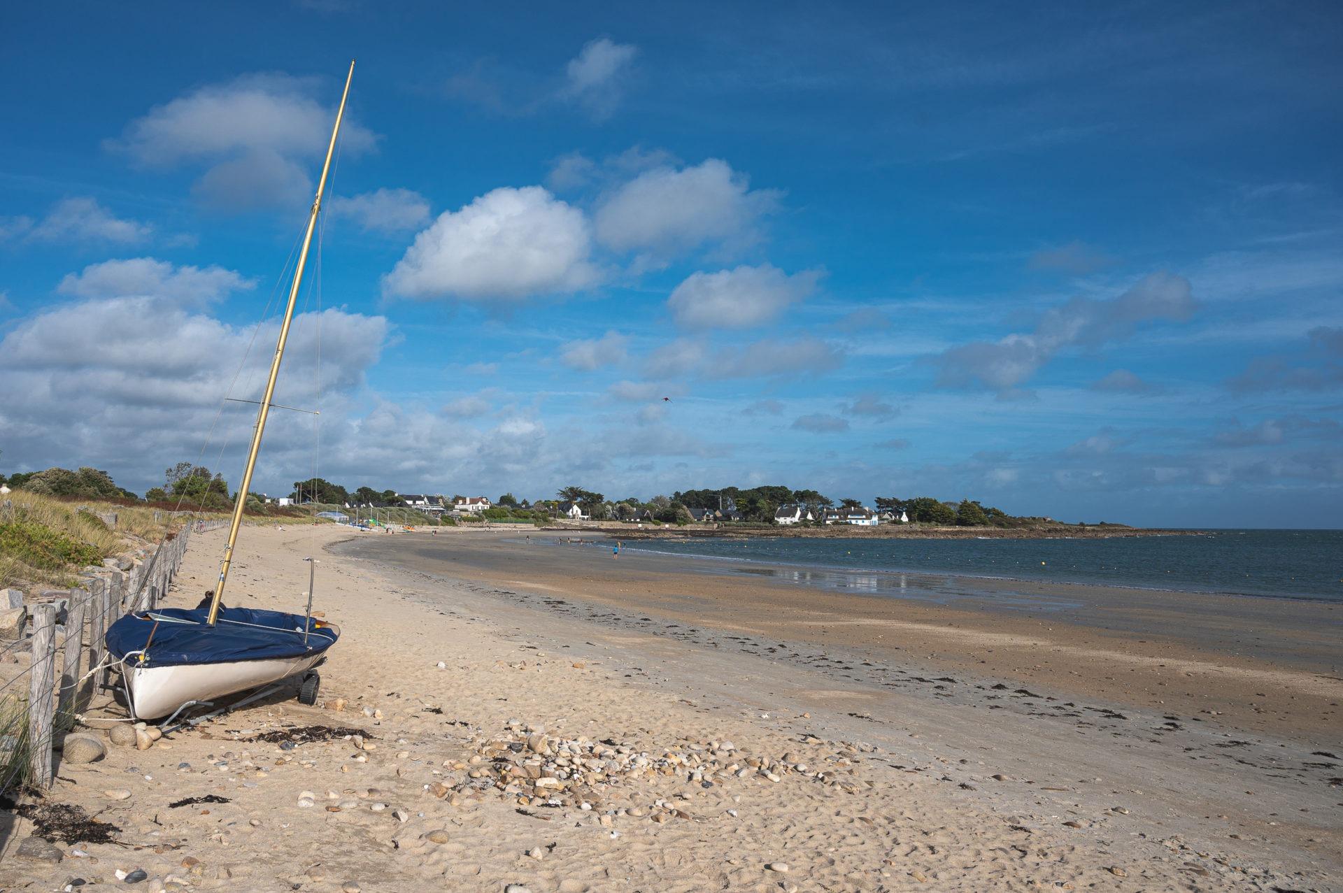 plage de kervillen à la trinité sur mer - baie de quiberon