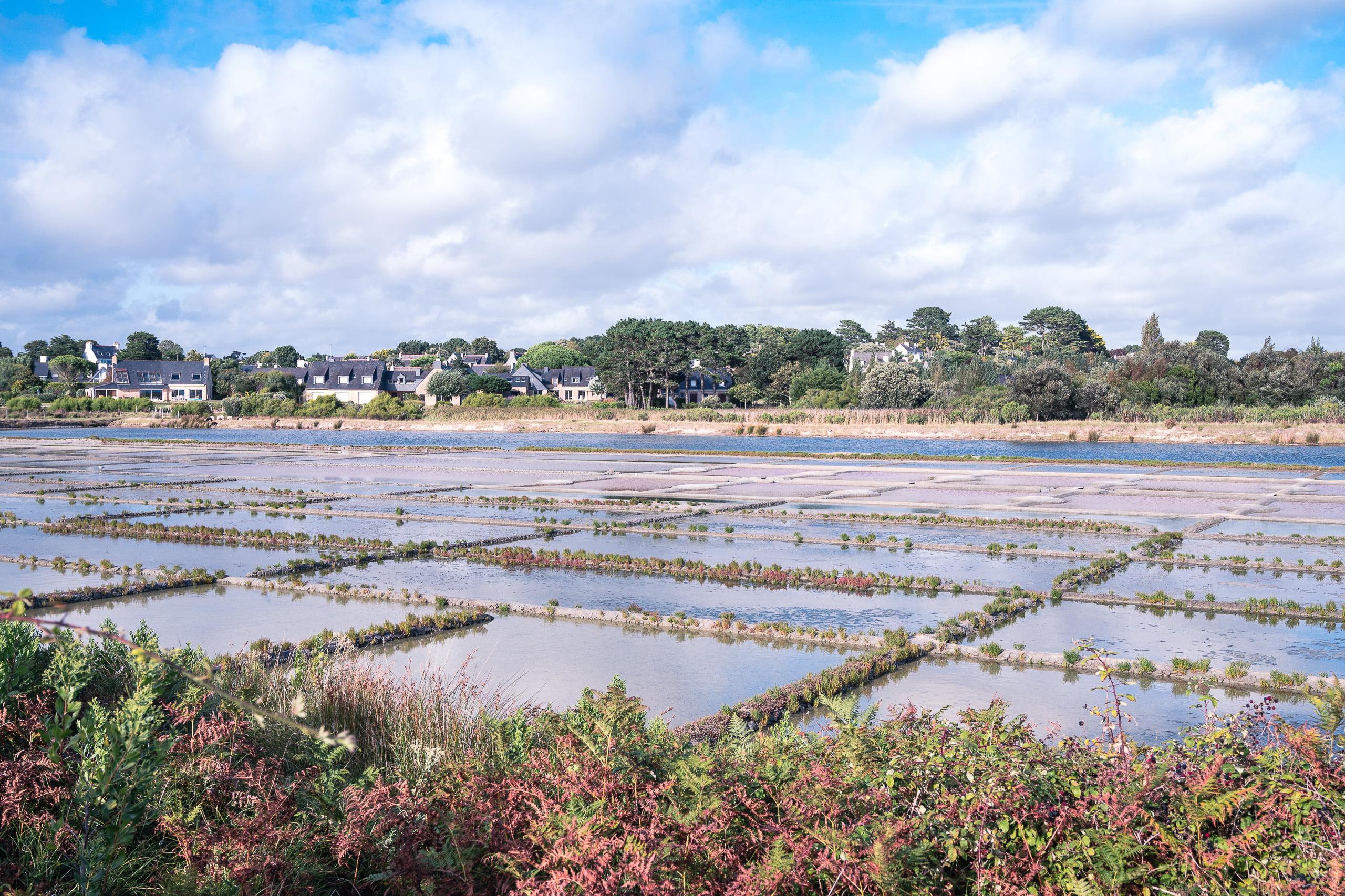 Marais salant plage de kervillen - baie de quiberon