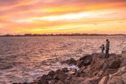 Coucher de soleil la trinité sur mer