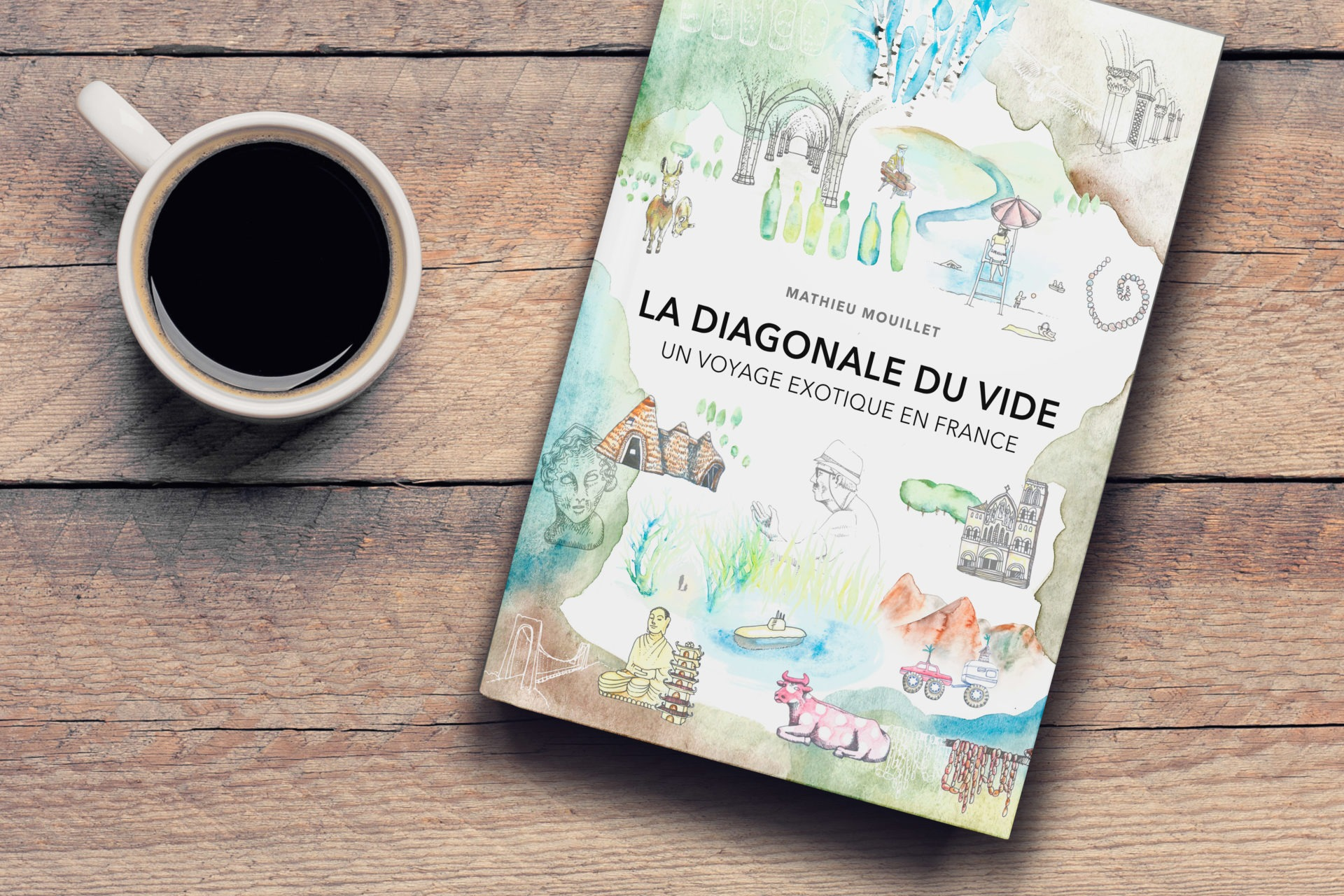 020 6x9 Table Top Book Coffee Template Mockup COVERVAULT - Les globe blogueurs - blog voyage nature