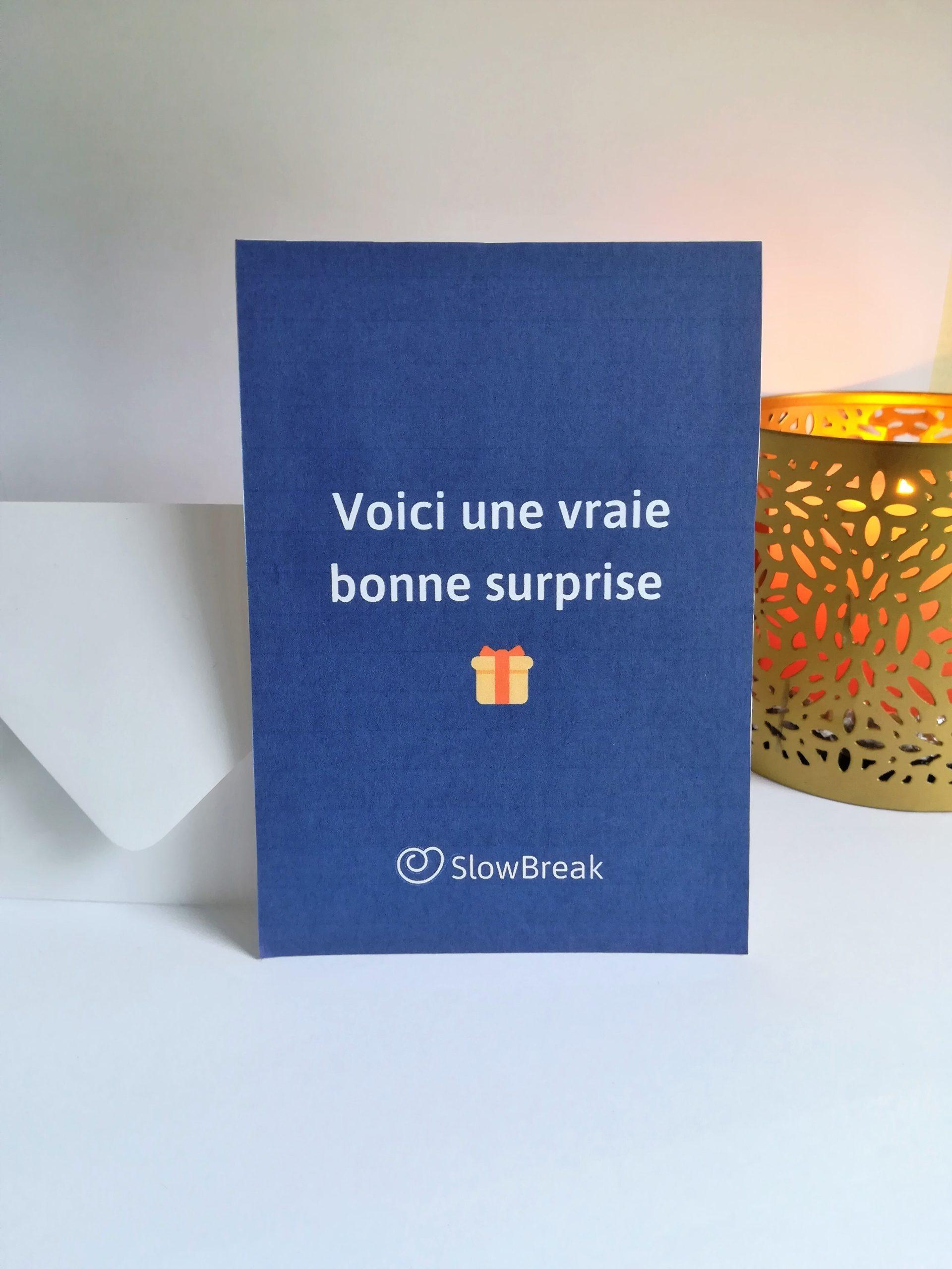carte cadeau SlowBreak - Les globe blogueurs - blog voyage nature