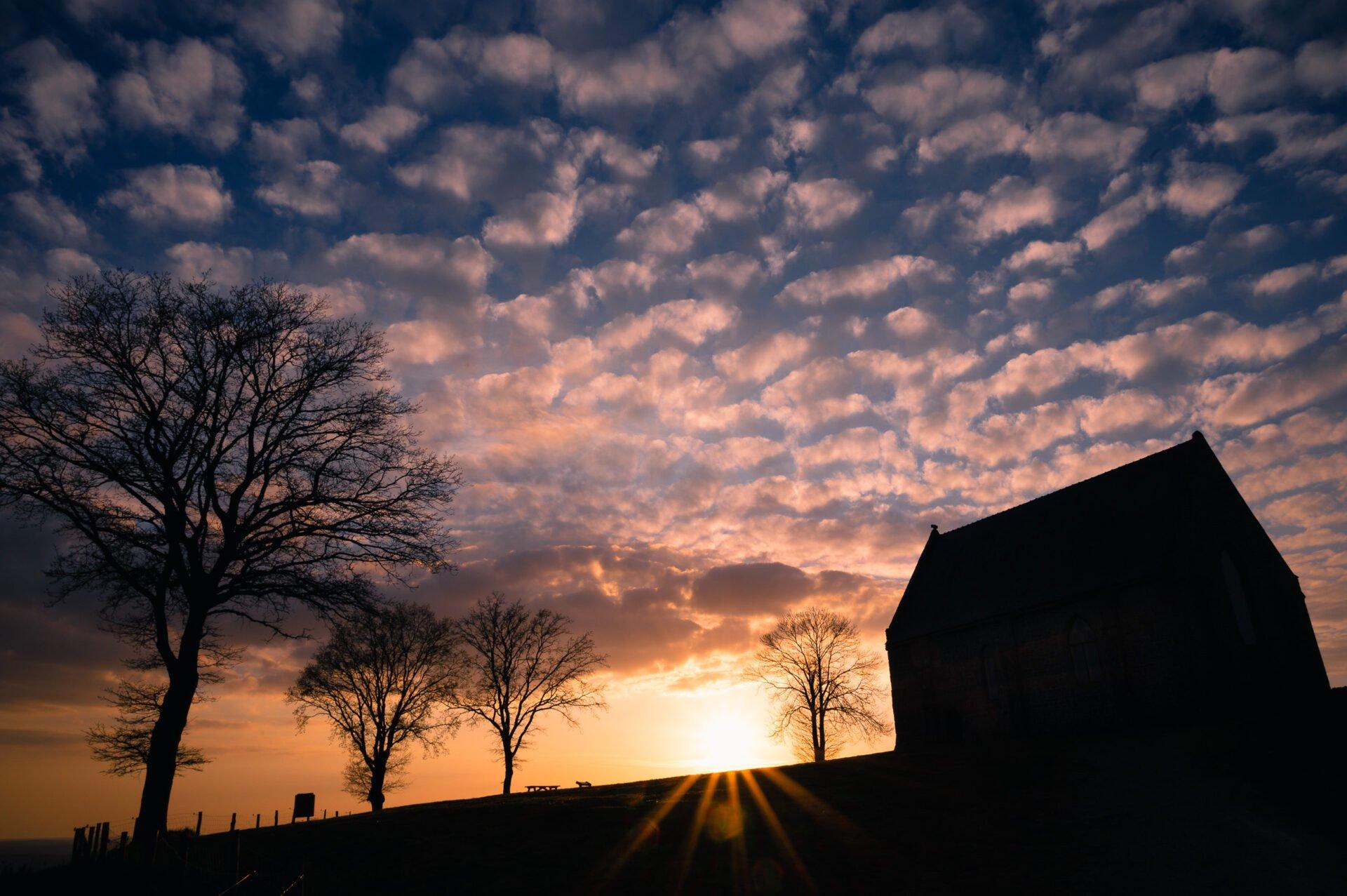 coucher de soleil butte du montaigu